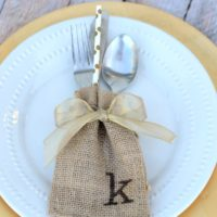Burlap Sack Place Cards
