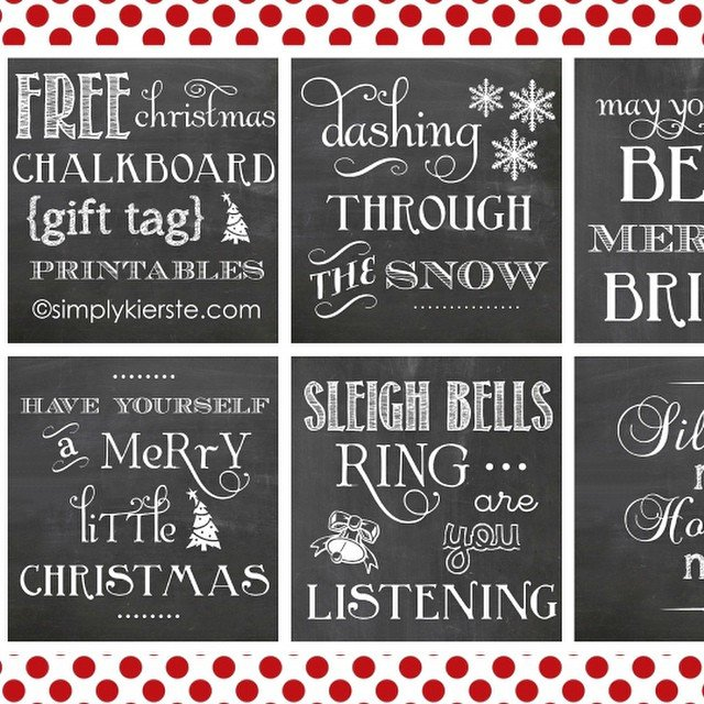 I have used these #chalkboard #Christmas #gifttags for so many things, and love them!! Just do a quick search and they will pop right up!  #freeprintable #ontheblog #linkinprofile #simplykierste