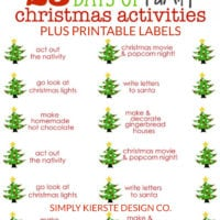 25 Days of Family Christmas Activities + Free Printable Labels | oldsaltfarm.com #christmastraditionsforfamiilies #christmastraditions #familychristmasactivities