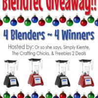 Blendtec Blender GIVEAWAY!