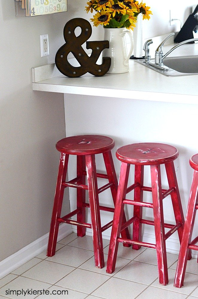 Kitchen Stools Makeover with Glidden…AFTER!