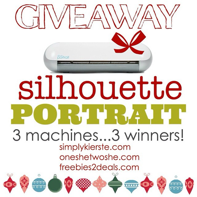 Come on over and enter to win a #Silhouette Portrait...for yourself or for a gift! Three bloggers...three machines...three chances to win! @silhouetteamerica