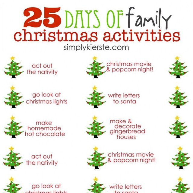 We love to countdown to #Christmas with fun family activities, and today #ontheblog I'm sharing a #freeprintable for 25 Days of Family #Christmasactivities ! Link in profile. #simplykierste #christmastradition