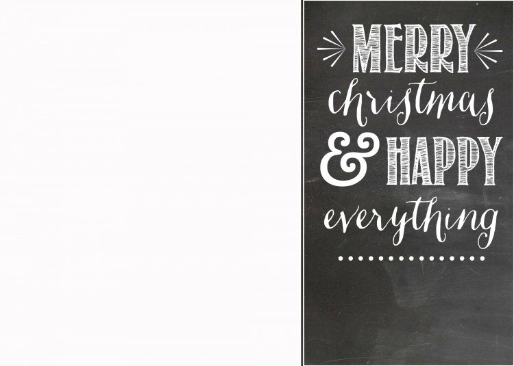 Free Chalkboard Christmas Card Template | simplykierste.com