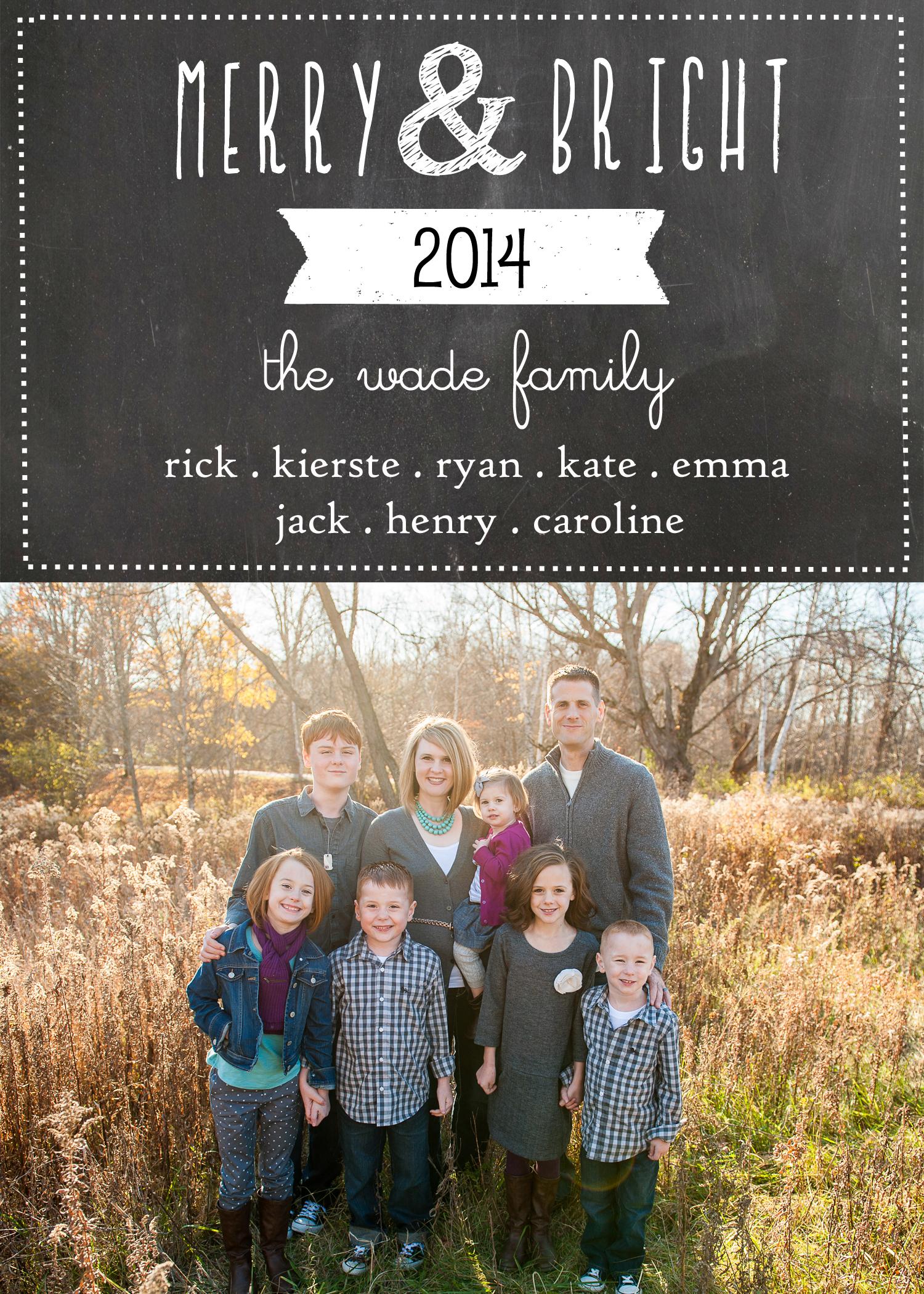 Chalkboard Christmas Card Template | simplykierste.com