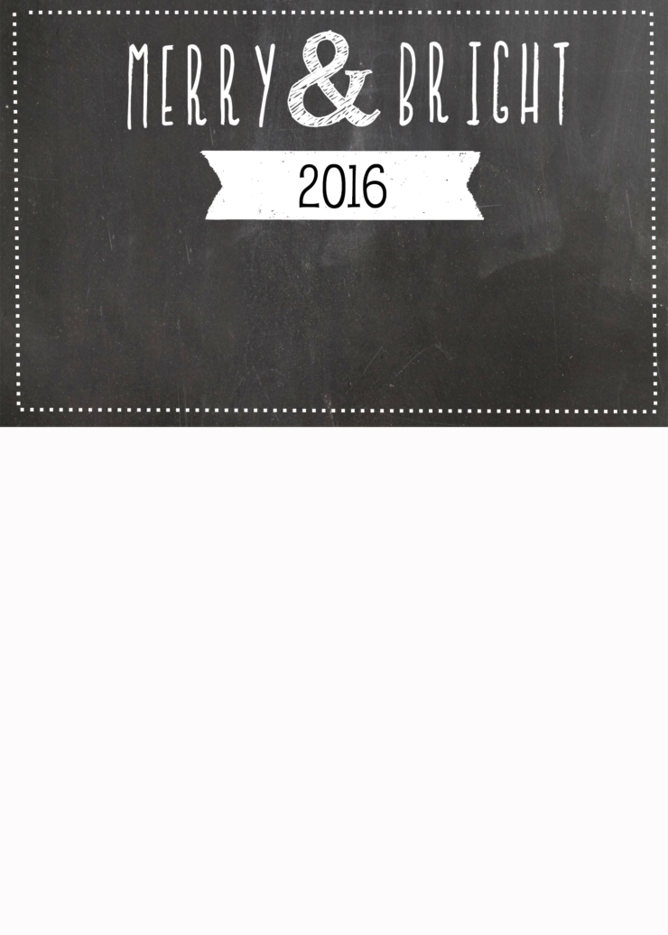 FREE Chalkboard Christmas Card Templates | simplykierste.com