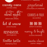 Favorite Free Christmas Fonts