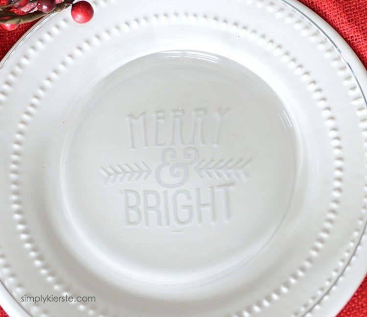 Etched Glass Christmas Plates | simplykierste.com