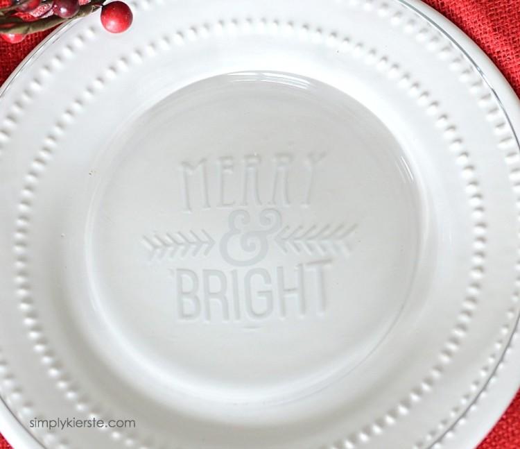 Etched Glass Christmas Plates | oldsaltfarm.com