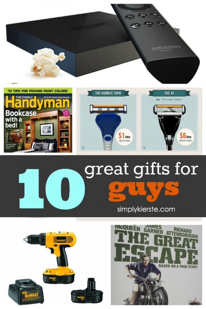 10 Great Gifts for Guys | simplykierste.com