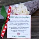Peppermint Hot Chocolate Neighbor Gift | simplykierste.com
