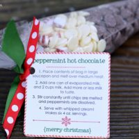 Peppermint Hot Chocolate Neighbor Gift {Free Printable}