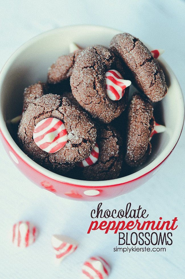 Chocolate Peppermint Blossoms | simplykierste.com