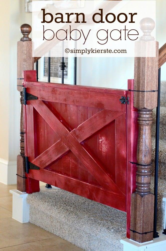 Barn Door Baby Gate | oldsaltfarm.com