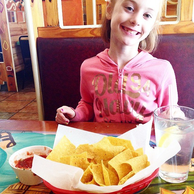 I think the thing I miss most about Texas is the Mexican food. Today Kate and I were really craving chips & salsa, so we tried our local Mexican food restaurant. #weshouldnthave #mytastebudsarespoiled #imisslupes