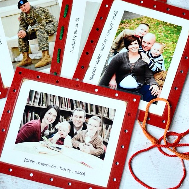 We live far away from all of our family, and I made these #family #lacingcards for my kids, and they love seeing their grandparents, aunts, uncles, and cousins all the time! Perfect for gifts to your kids, or make a whole set (including your family) for someone else! Great sibling #familygift . They are so easy to make and all the details are #ontheblog today! Link in profile. #simplykierste #christmasgifts #holidays #christmascraftsforkids
