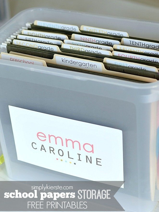 School Papers Storage System | simplykierste.com