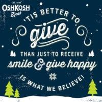 Give happy with OshKosh B'gosh
