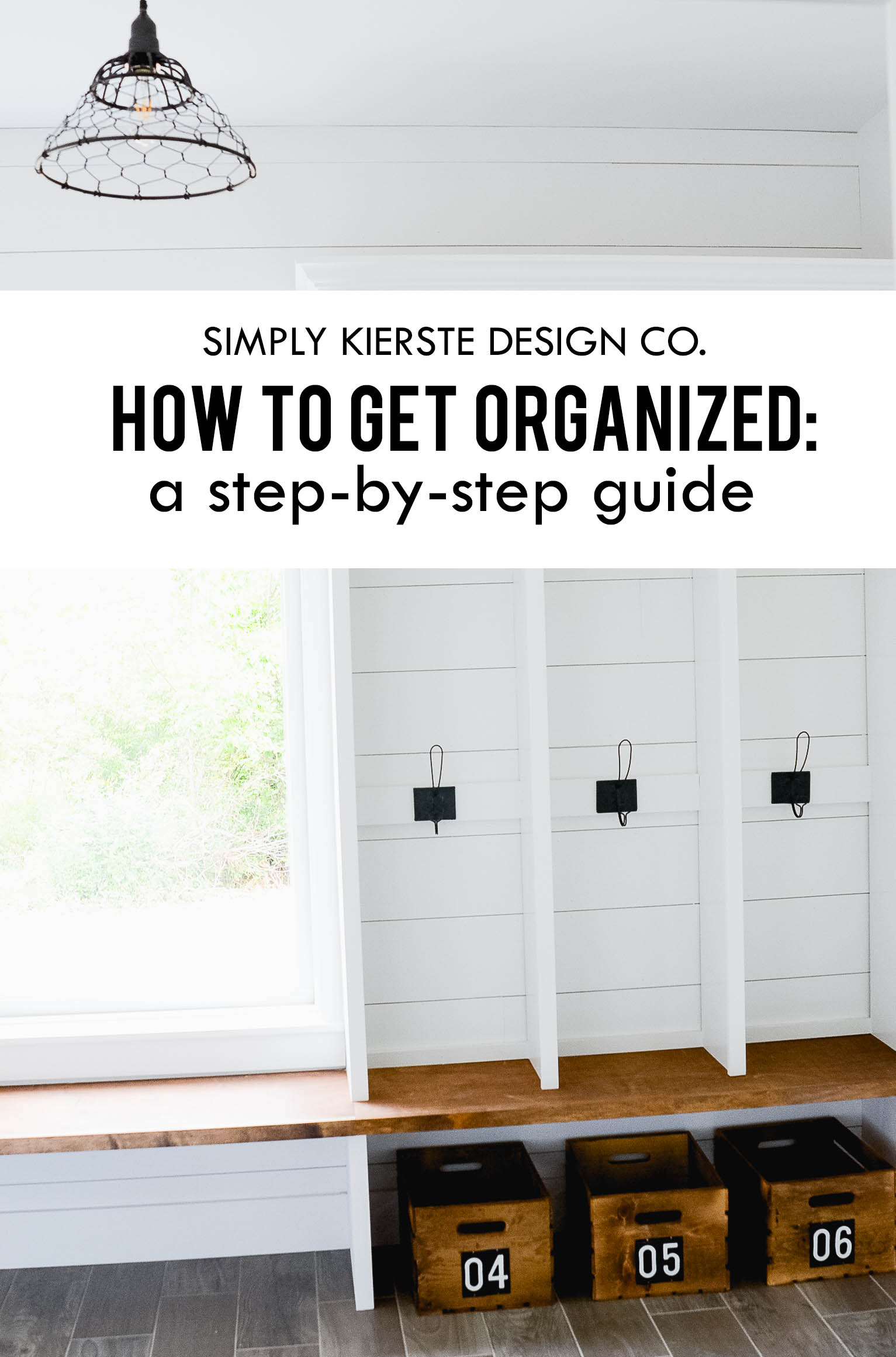 HOW to get organized…a guide to getting started!