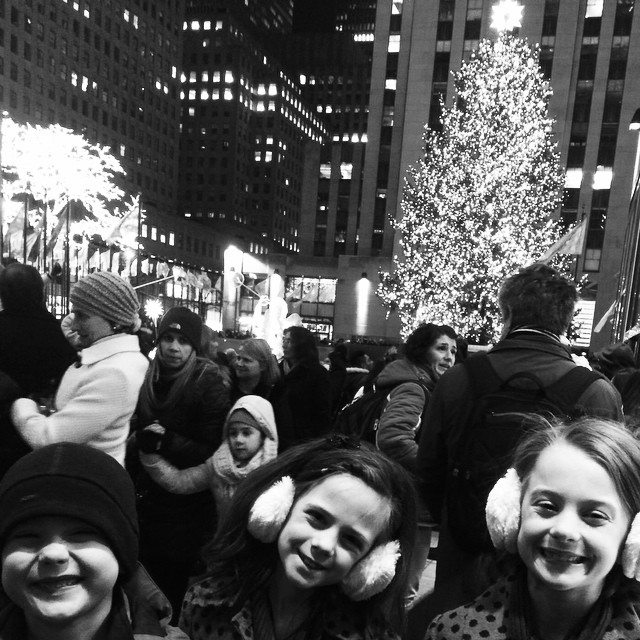 We are loving New York at Christmastime!! #christmasinnewyork #rockefellercentertree #rockcenterxmas #newyorkisntmadeforfamiliesofeight