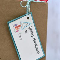 Children's Art Christmas Gift Tags