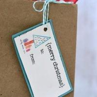 Children's Art Christmas Gift Tags