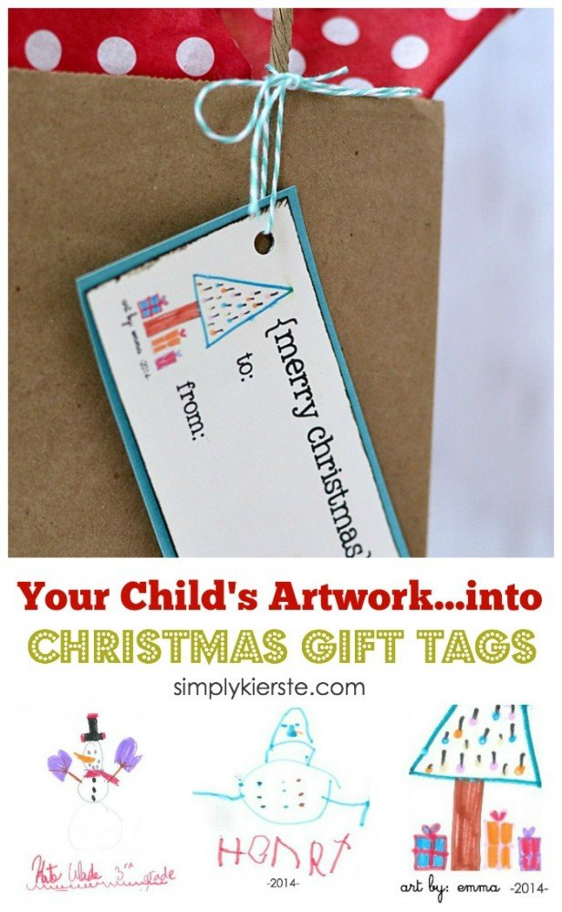 Children's Artwork Christmas Gift Tags | oldsaltfarm.com