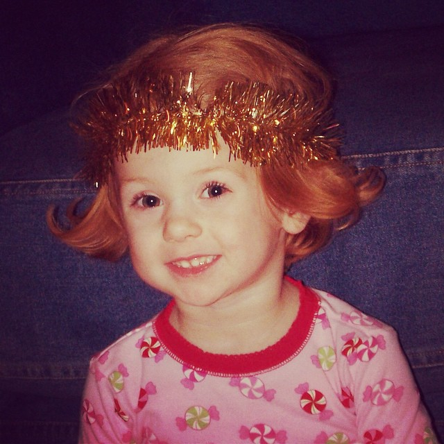 One more, because I can't resist. #shesalwaystheangel #tbt #kateagetwo #nativity