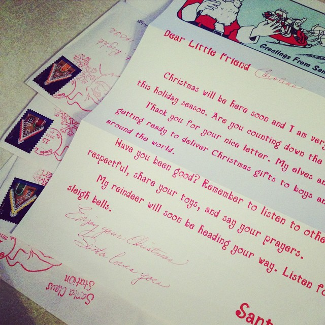 Letters from Santa came in the mail! My kiddos are thrilled, to say the least! #merrychristmas #santaletters #tistheseason