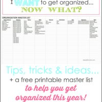 A guide to getting organized!