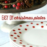 Easy DIY Christmas Plates