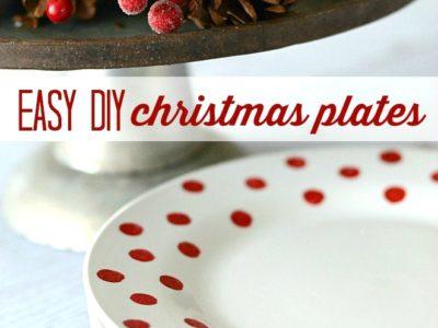 Easy DIY Christmas Plates | simplykierste.com