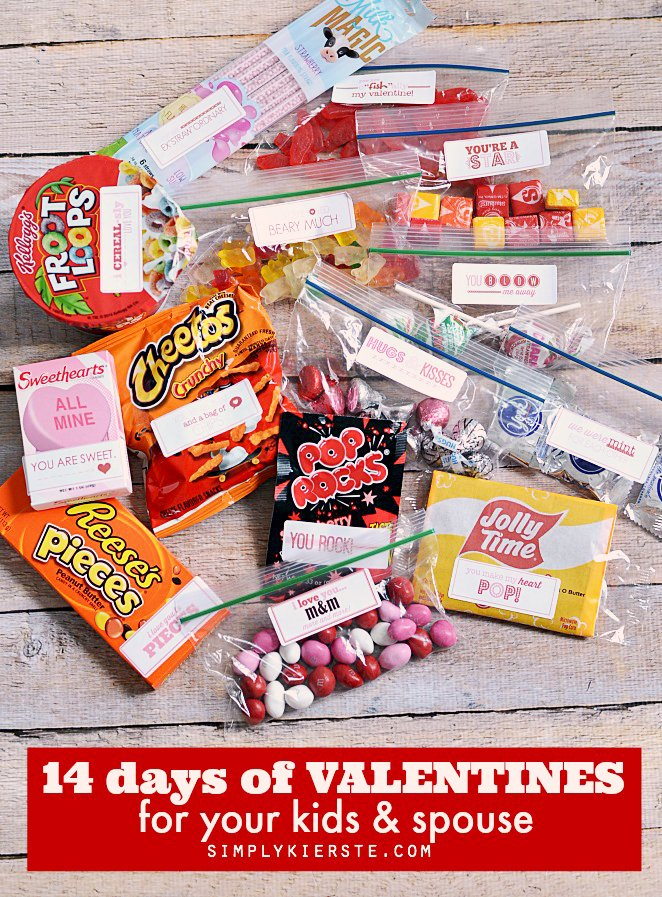14 Days of Valentines for your kids & spouse | simplykierste.com