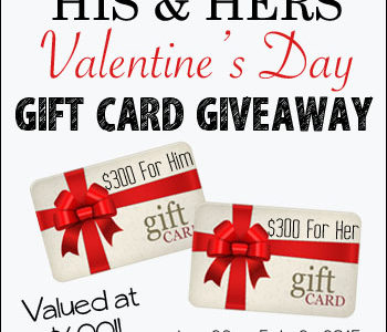 His & Hers Valentine's Day Giveaway | simplykierste.com