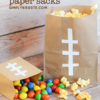 Easy football paper sacks