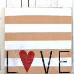 Striped love sign