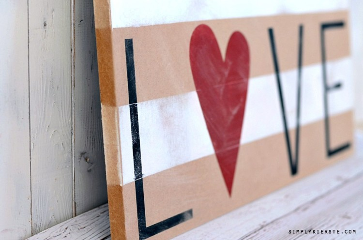 Striped Love Sign | oldsaltfarm.com