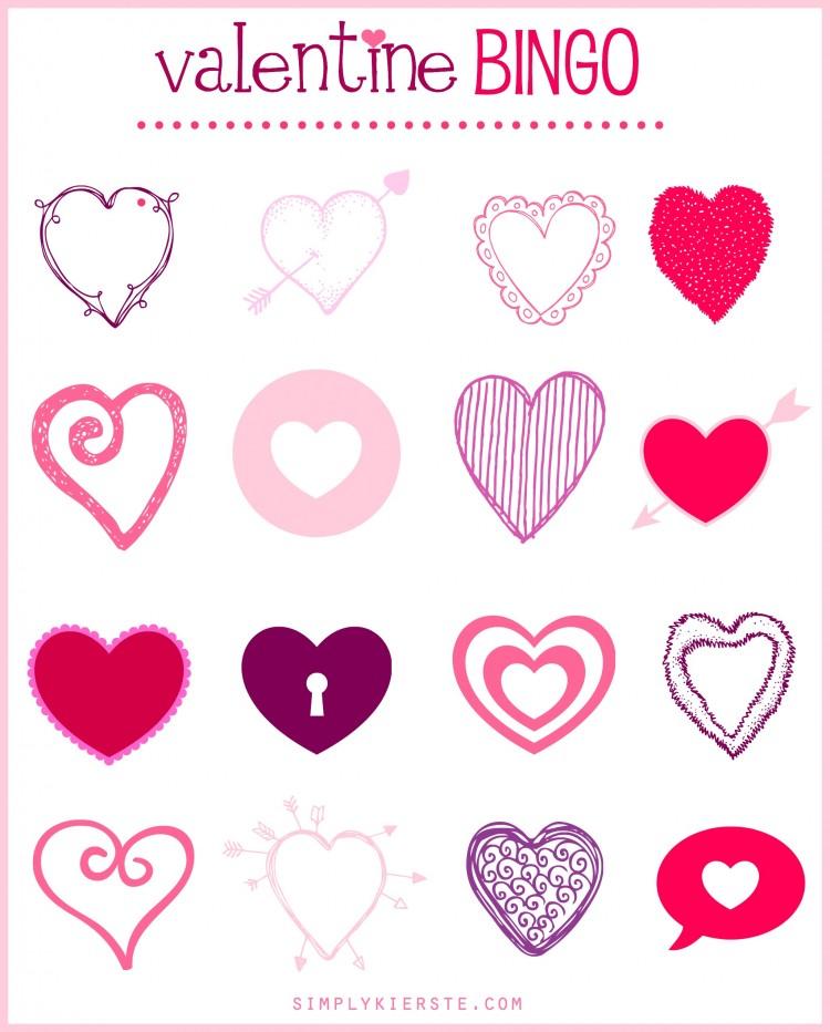 Valentine Bingo | simplykierste.com