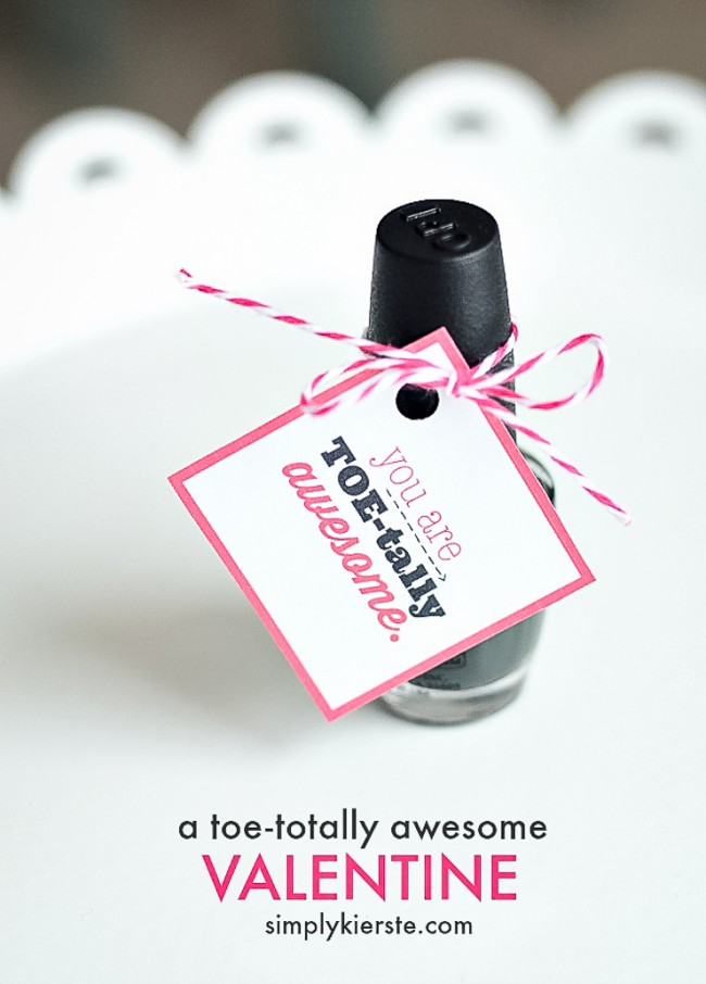 You are Toe-tally Awesome!! | Fingernail polish gift idea | simplykierste.com
