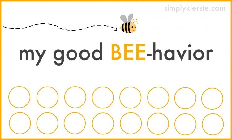 good behavior punch card | simplykierste.com