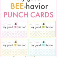 Good behavior punch cards | free printable | simplykierste.com
