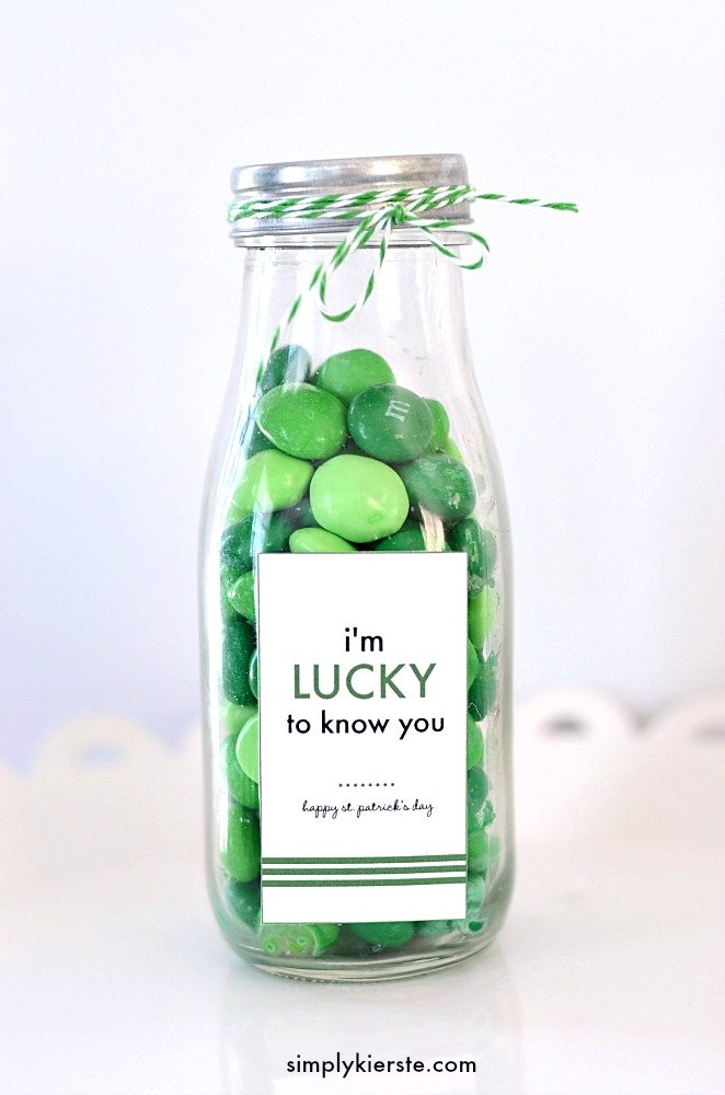 Lucky to know you | St. Patrick's Day free printable | oldsaltfarm.com