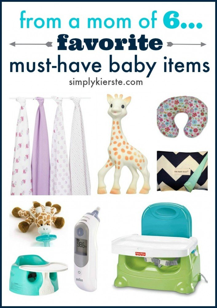 From this mom of six:  my must-have baby items