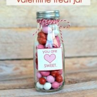 You are sweet Valentine's Day treat jar {free printable}