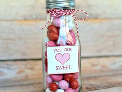 You are sweet Valentine's Day treat jar | free printable | simplykierste.com