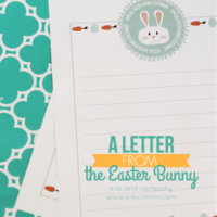 A Letter to the Easter Bunny: Official Easter Bunny Stationery