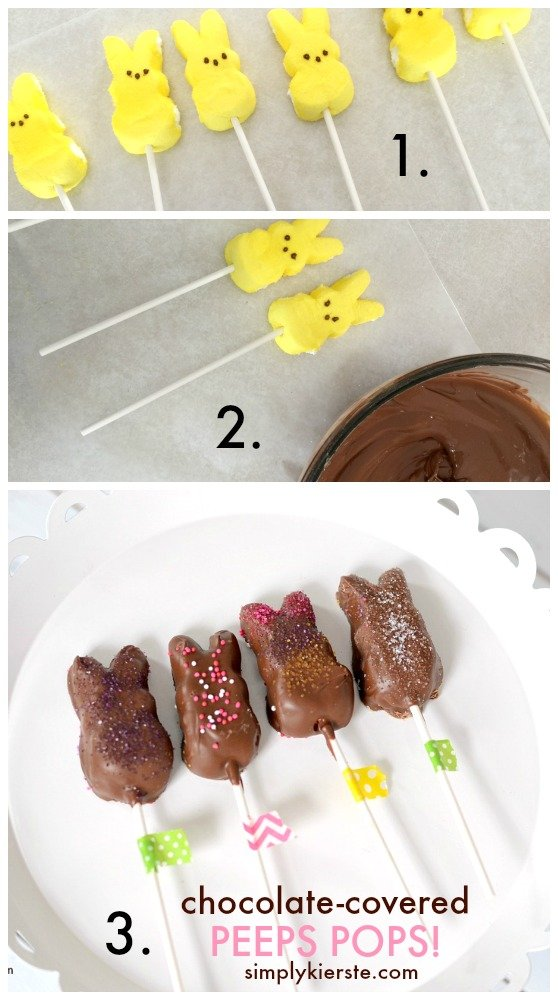 chocolate-covered peeps pops | simplykierste.com