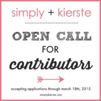 Simply Kierste:  CALL FOR CONTRIBUTORS!!