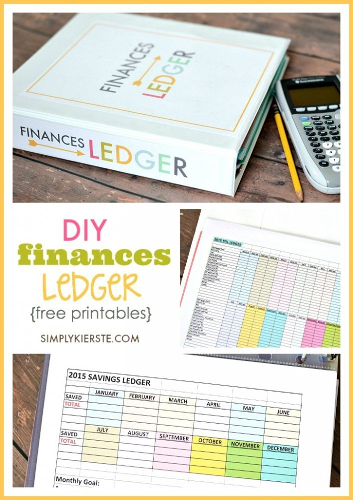 DIY FInances Ledger | free printables | oldsaltfarm.com