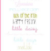 Favorite spring fonts